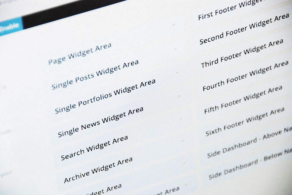 how to add widgets to wordpress theme